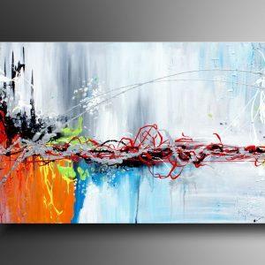 Obraz przedstawia kolorową abstrakcję