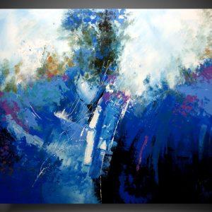 obraz ręcznie malowany w stylu abstrakcyjnym