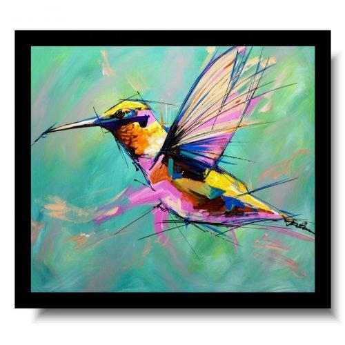 Modny obraz egzotyczny ptak obrazy ręcznie malowane ze zwierzętami 1697A
