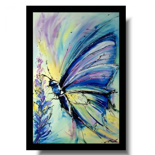 Obrazy zwierzęta pastelowy motyl obraz nowoczesny 1723A
