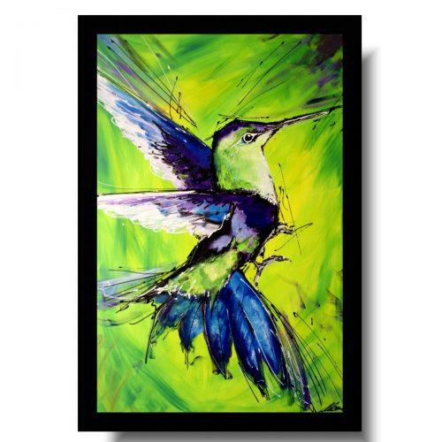 Modne obrazy egzotyczny ptak koliber obrazy ręcznie malowane do salonu 1735A