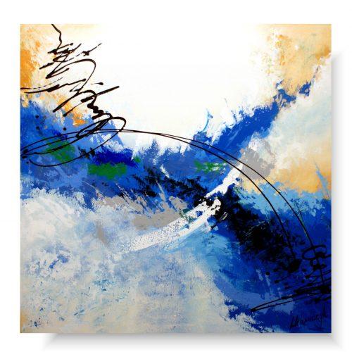 abstrakcja duży obraz letni oddech