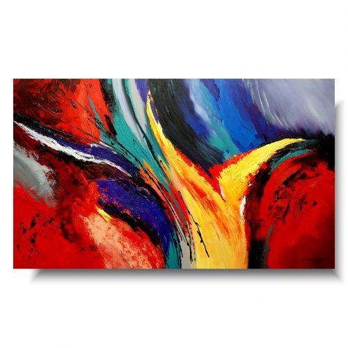 Abstrakcje kolorowe obrazy nadchodzi jesień