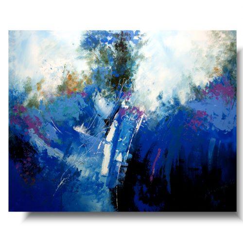 Duży niebieski obraz