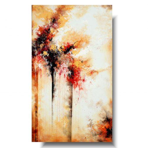 Duży obraz abstrakcja jesienna ulica