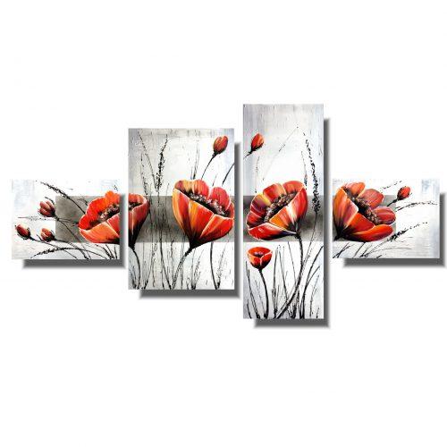 Obraz z kwiatami cudowne polne maki