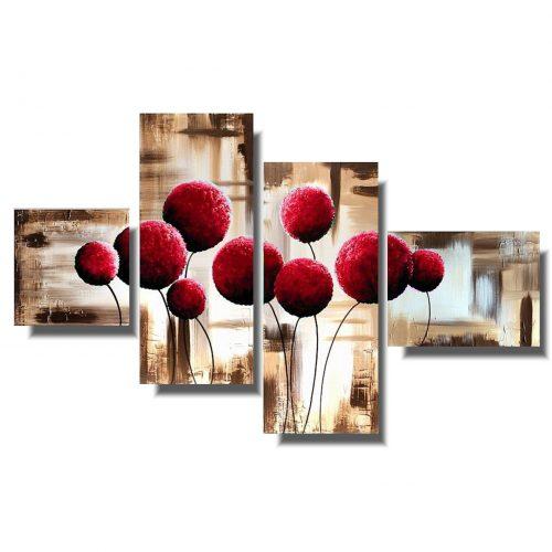 Obrazy kwiaty czerwone dmuchawce