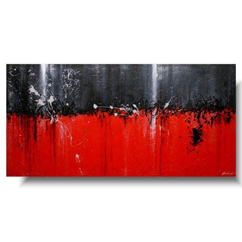 czerwony obraz nowoczesna abstrakcja