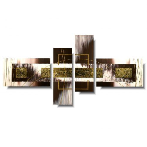 Obraz dzielony abstrakcja brązowa elegancja