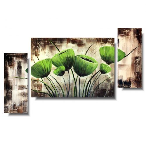 Obraz zielone kwiaty