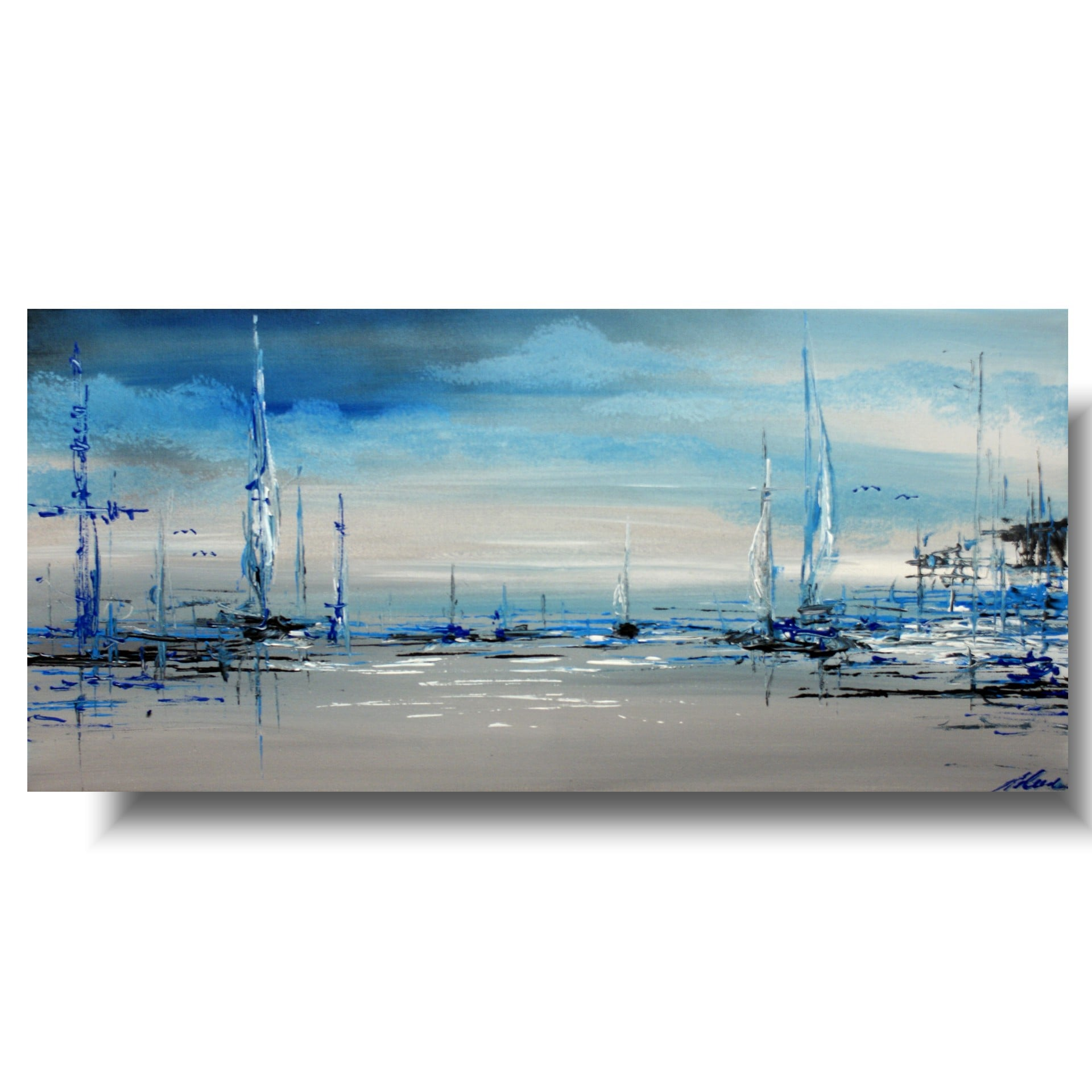 Obrazy na płótnie błękitny port