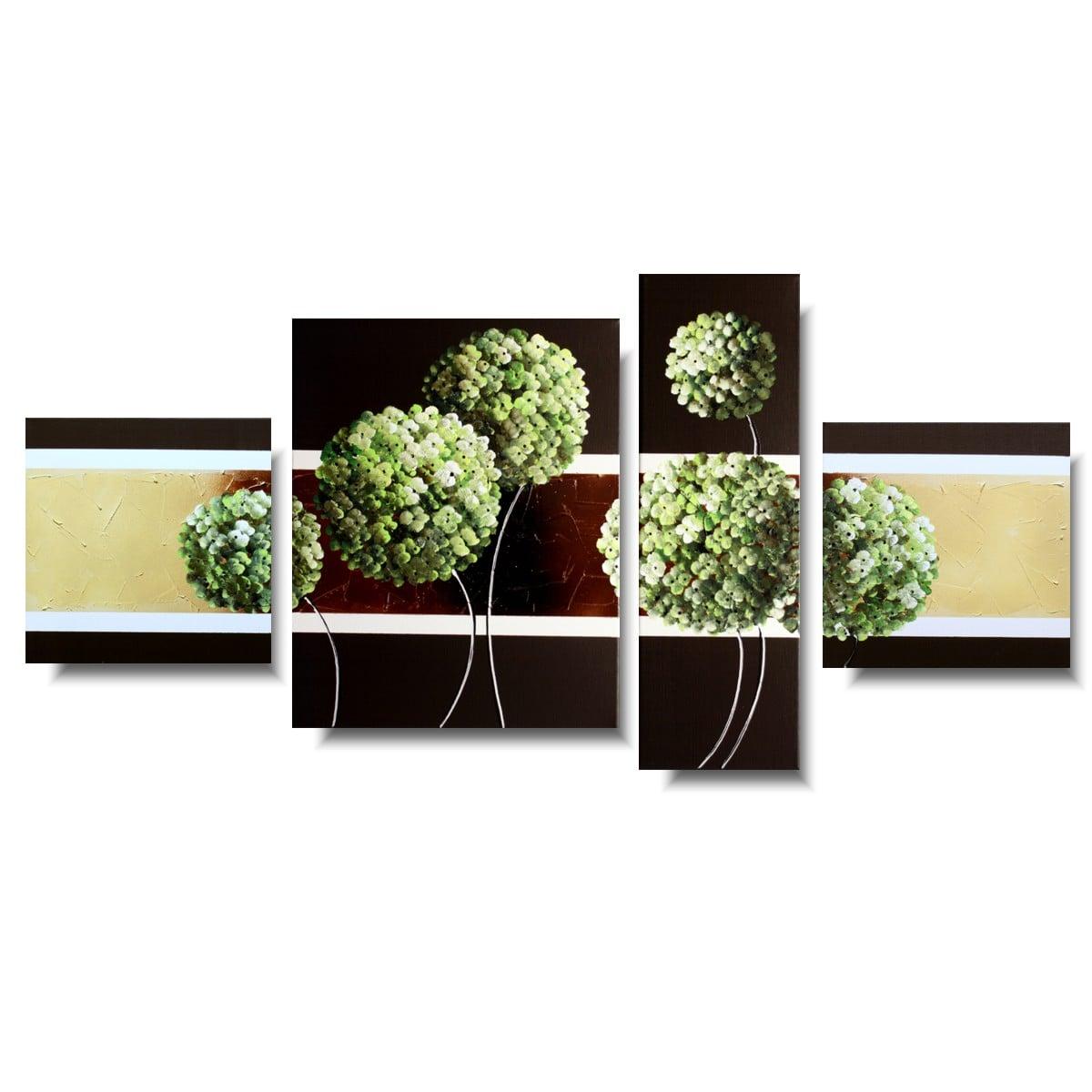 Modny obraz kwiaty zielone oliwkowe hortensje 1186A