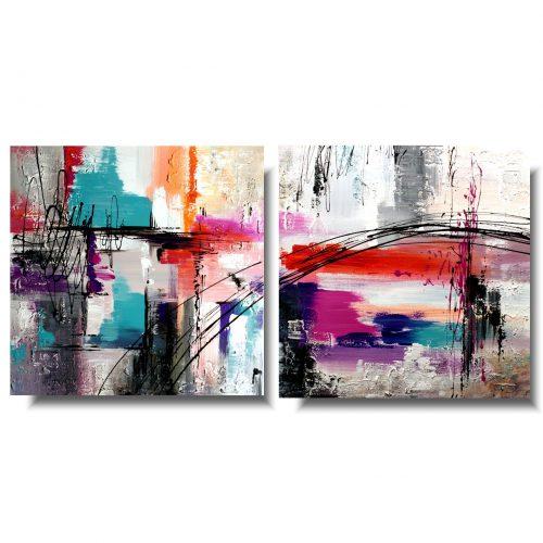 Abstrakcja obraz do domu pastelowe kolory