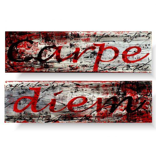 czerwony obraz carpe diem