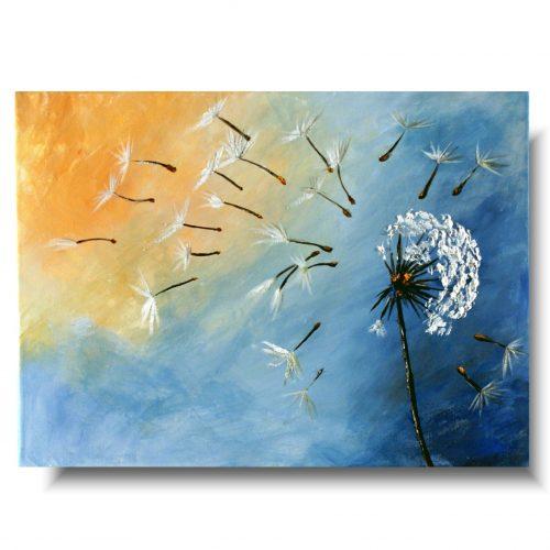 dmuchawce obraz kwiaty