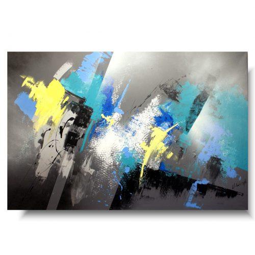 Duży obraz abstrakcja szara elegancja