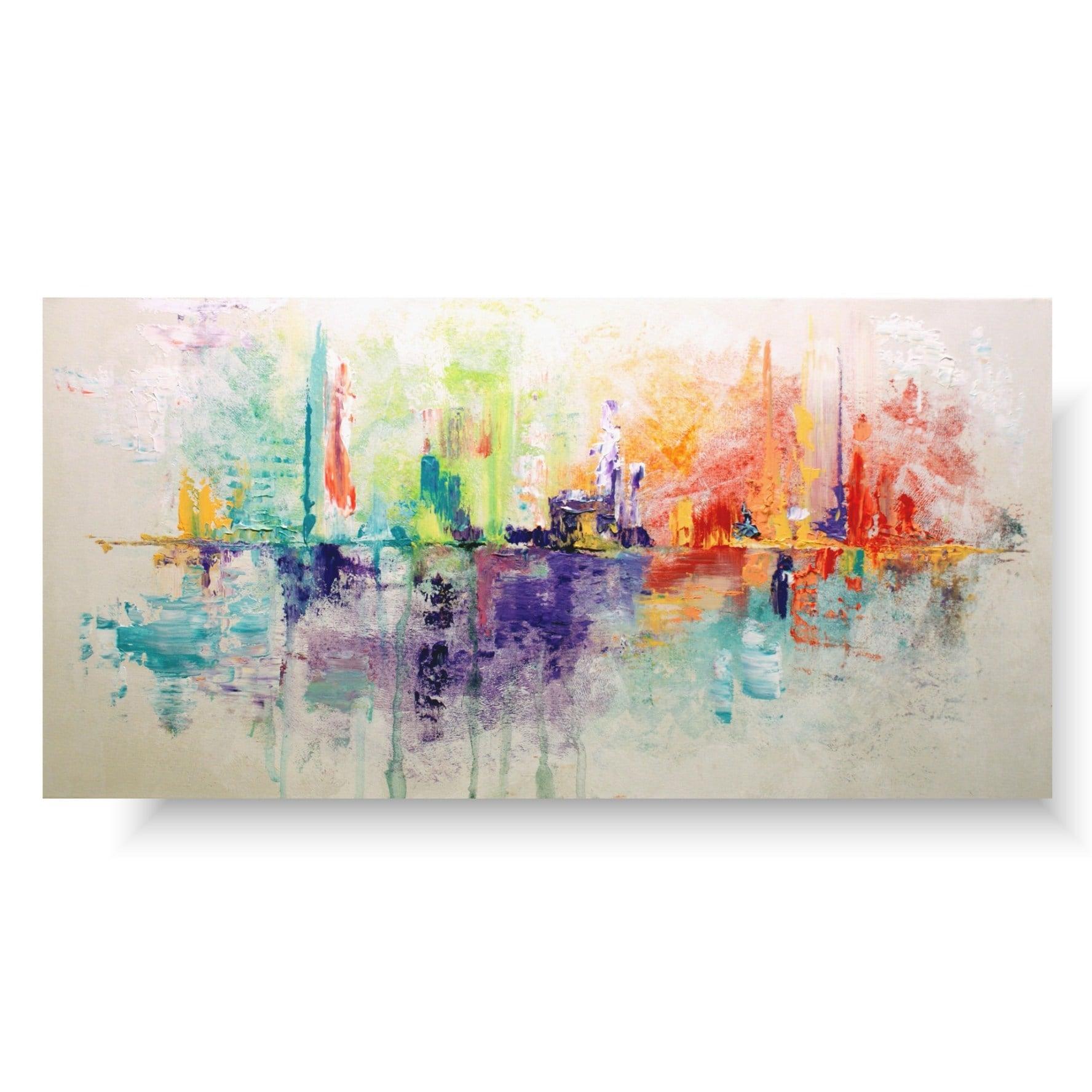 Kolorowa abstrakcja delikatna radość 1454A