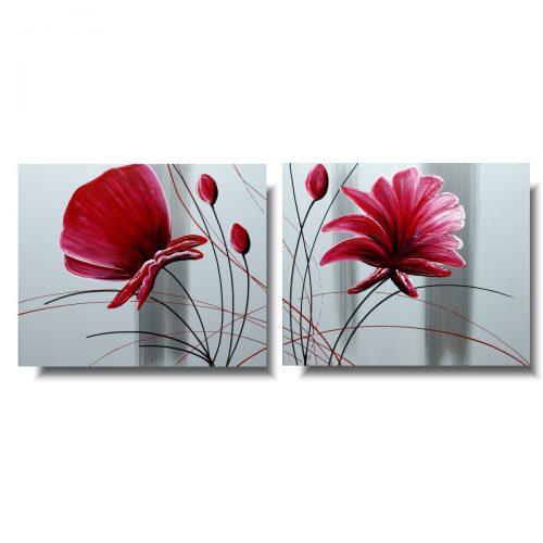 kwiaty obraz dzielony