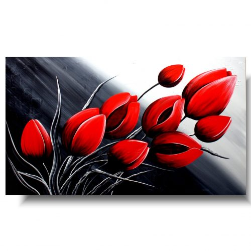 kwiaty romantyczne tulipany obraz