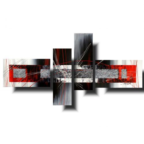 modny obraz abstrakcja szara przestrzeń