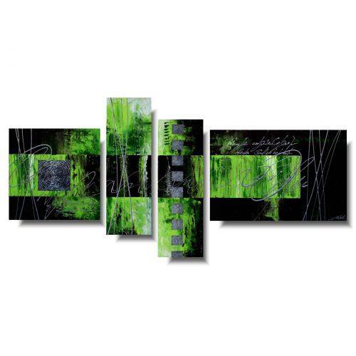 Modny obraz abstrakcja soczysta zieleń