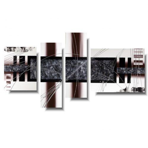 Nowoczesna abstrakcja srebrny pas