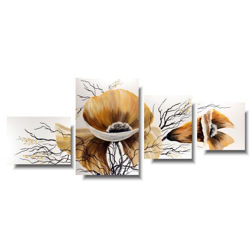 Nowoczesne obrazy kwiaty jesienne maki