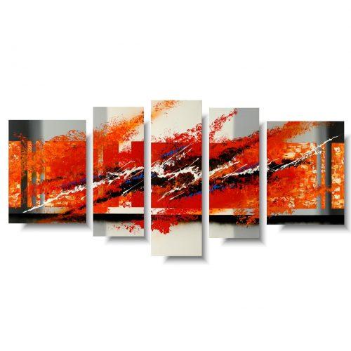 Nowoczesny obraz abstrakcja ogień