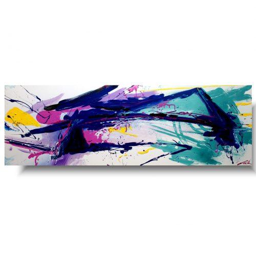 Obraz abstrakcja modny granat