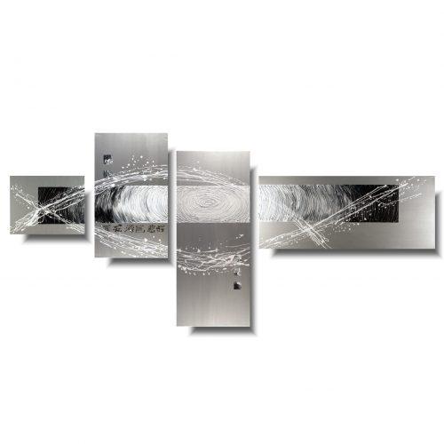 Obraz abstrakcja srebrna przestrzeń