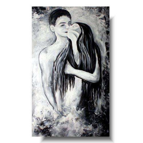 obraz akt kochankowie