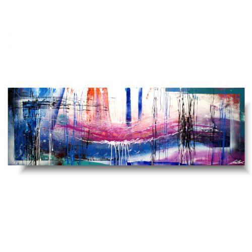 Obrazy do salonu kolorowa mgła
