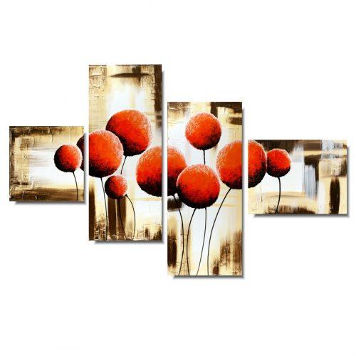 Obraz do salonu pomarańczowe dmuchawce
