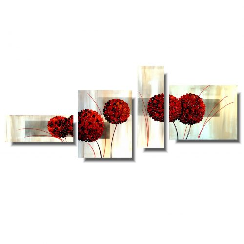 Obraz hortensja czerwony kwiat