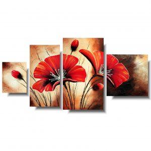 Obrazy kwiaty czerwone maki