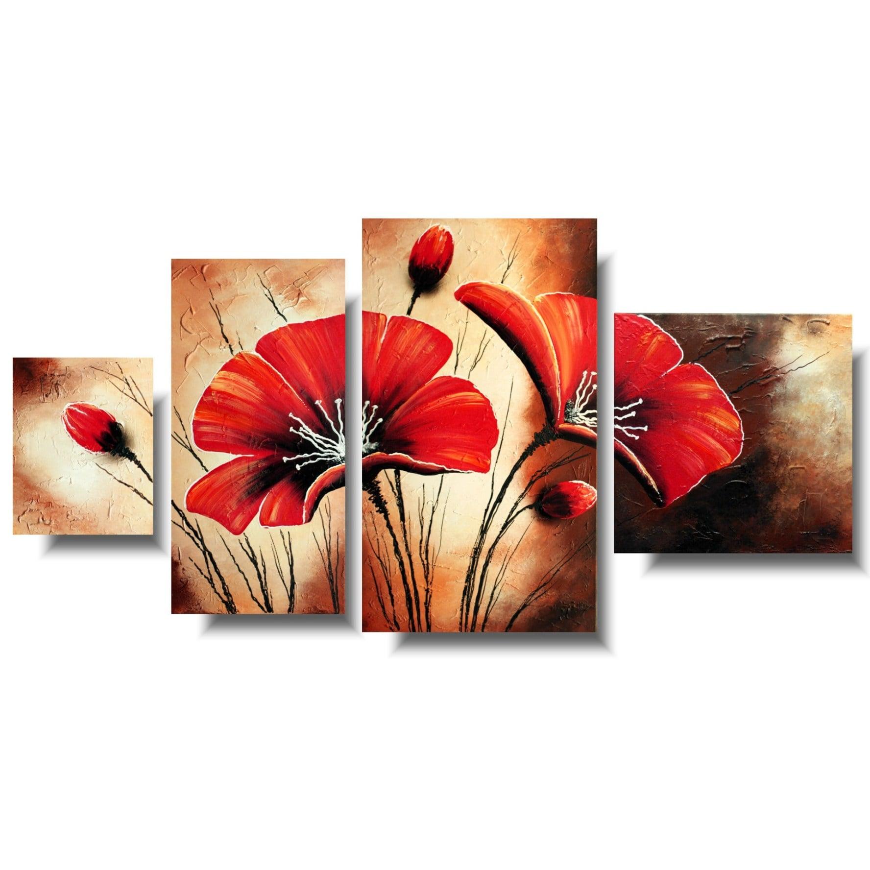 Obrazy kwiaty czerwone maki 1389A