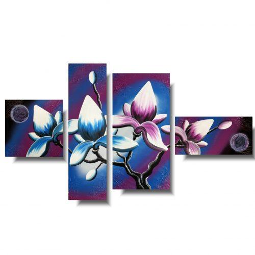 Obraz kwiaty niebieska magnolia