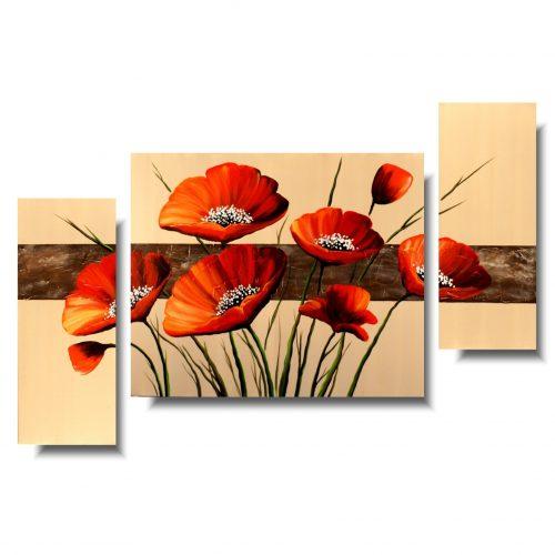 Obraz kwiaty delikatne czerwone maki
