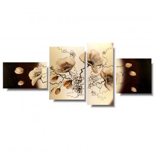 Obraz kwiaty maki beżowe