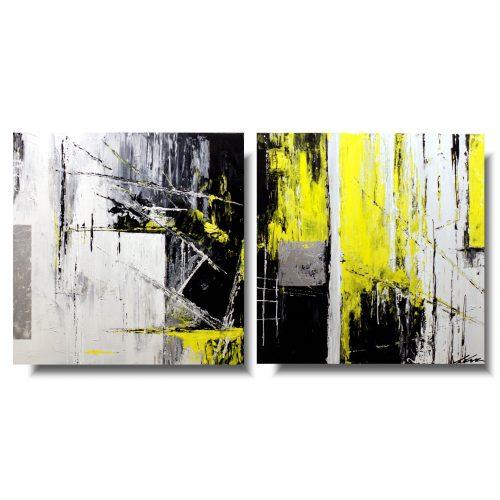 Obraz modna abstrakcja żółty skwar