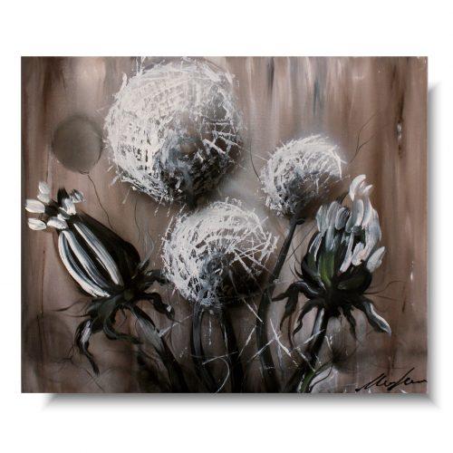 Obraz z kwiatami delikatne dmuchawce