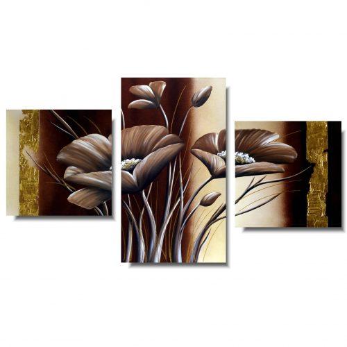 Obraz z kwiatami brązowe maki