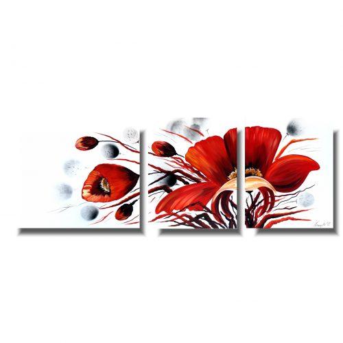 Obrazy kwiaty czerwony kwiat