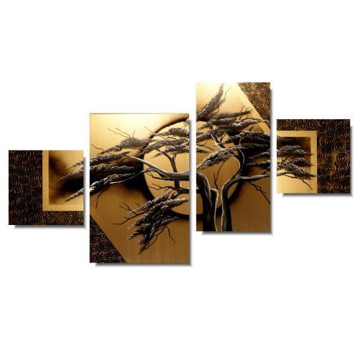 Obrazy na ścianę złote drzewo