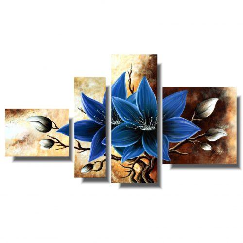Piękny obraz niebieski amarylis