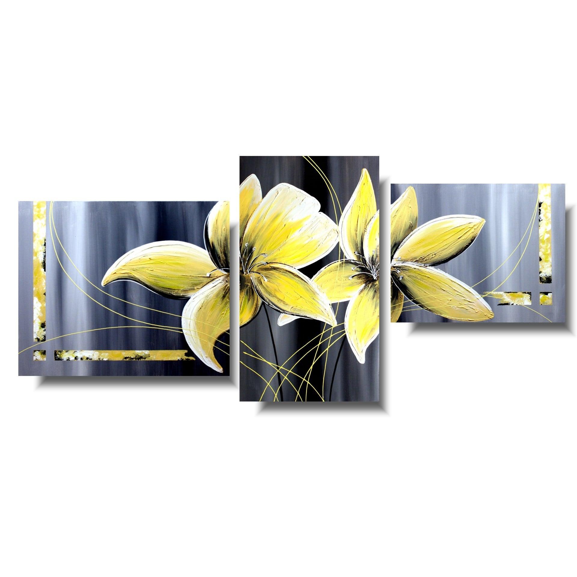 Wiosenny obraz żółty kwiat