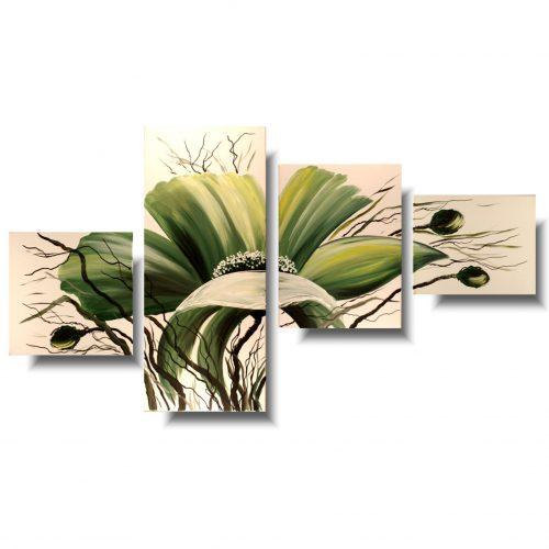 Wiosenny obraz zielone kwiaty
