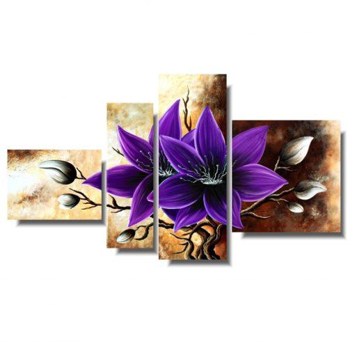 Zjawiskowy obraz fioletowy amarylis