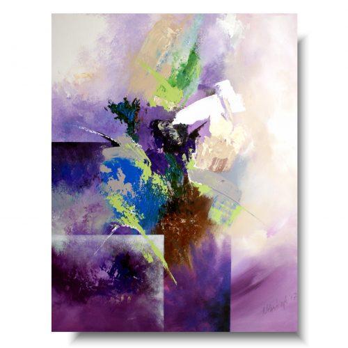 Abstrakcja duży obraz fioletowa chmura