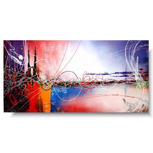 Abstrakcja duży obraz kolorowy mix